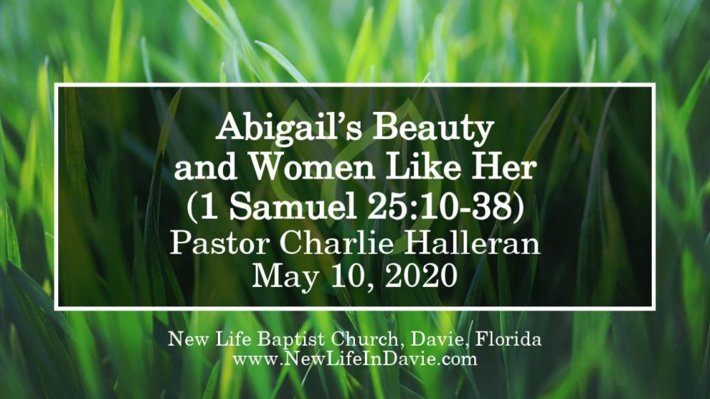 Abigail's Beauty and Women Like Her (1 Samuel 25:10-38)
