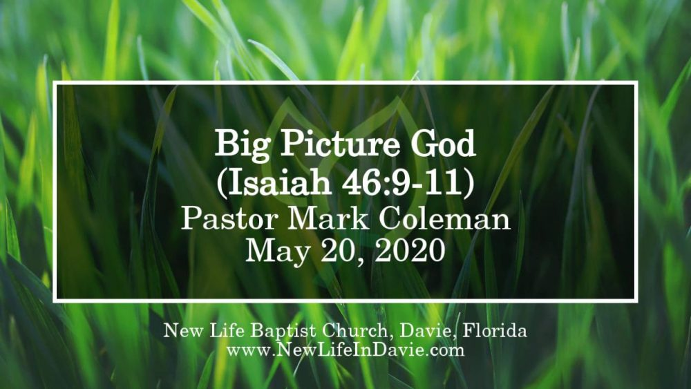 Big Picture God (Isaiah 46:9-11)